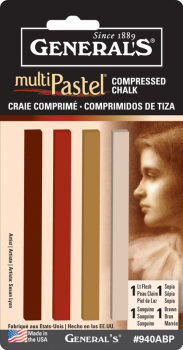 Earth Tone Compressed Pastel Crayons