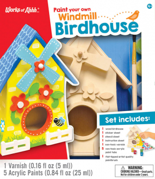 Paint Your Own Windmill Birdhouse