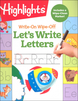 Highlights Write-On Wipe-Off Let's Write Letters