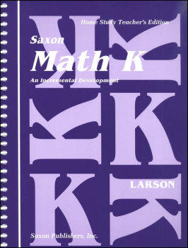 Saxon Math K Teacher Edition