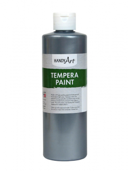 Silver Metallic Tempera Paint 8oz.