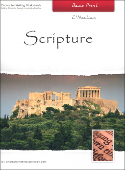 Scripture Character Writing Worksheets D'Nealian Basic Print