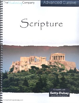 Scripture Character Writing Worksheets Getty Dubay Italic Advanced Cursive