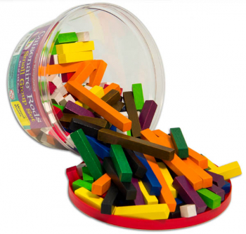 Cuisenaire Rods Small Group Set - 155 Wooden Rods