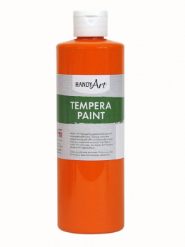 Orange Tempera Paint 16 oz.