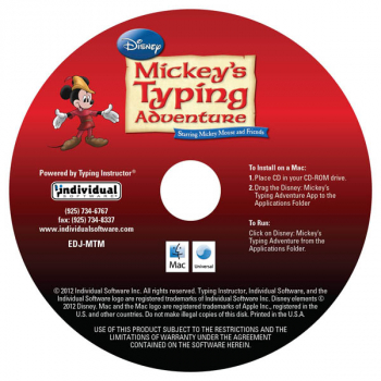 Mickey's Typing Adventure Gold (Mac Version) in paper sleeve