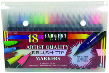 Artist Brush Tip Marker Set (18 count)