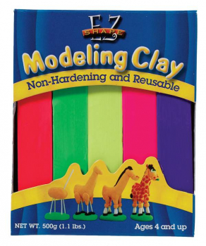 EZ Shape Modeling Clay Bright Color Set