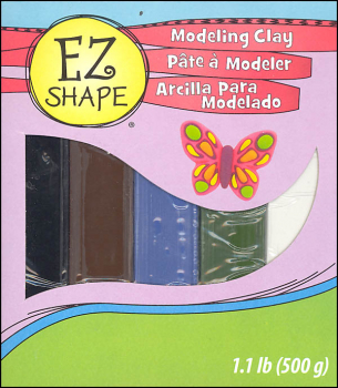 EZ Shape Modeling Clay Natural Color Set