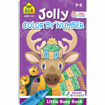 Jolly Color by Number (Little Busy Book)