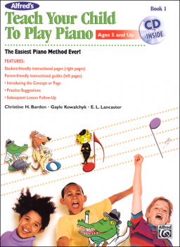 Alfred's Teach Your Child to Play Piano Book & CD
