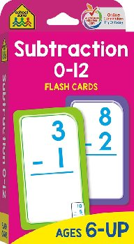 Subtraction Flash Cards 0-12