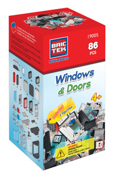 Windows & Doors Kit (86 Pieces) - Brictek