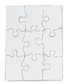 "Compoz-A-Puzzle - Rectangle (4"" x 5-1/2"") 9 Pieces - 10 per pack"