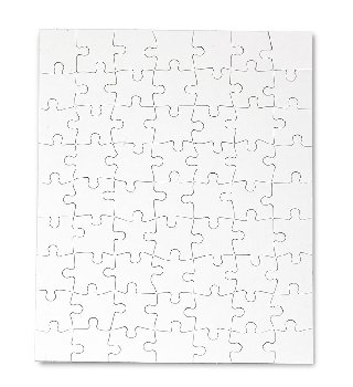 "Compoz-A-Puzzle - Rectangle (8-1/2"" x 11"") 63 Pieces - 10 per pack"