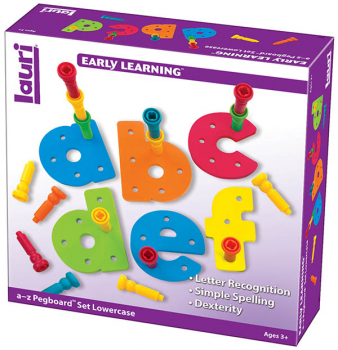 Tall-Stackers Pegs A-Z Pegboard Set (Lowercase)