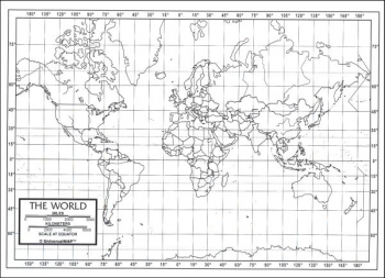 "World Map Laminated single (8+"" x 11"")"