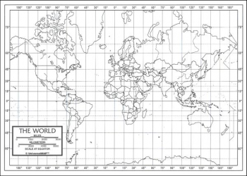"World Map Paper single (8+"" x 11"")"
