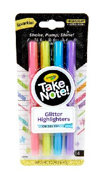 Crayola Take Note! Glitter Highlighters (4 count)