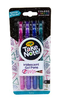 Crayola Take Note! Iridescent Gel Pens (4 count)