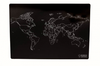 "Chalkboard World Map Mat 12"" x 17"" (Reversible)"