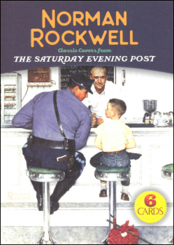 Norman Rockwell Small Format Art Postcard Book