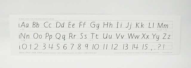 Italic Desk Strip - Basic (Manuscript)