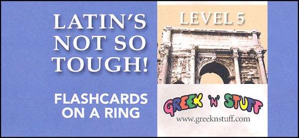 Latin's Not So Tough Flashcards on a Ring Level 5