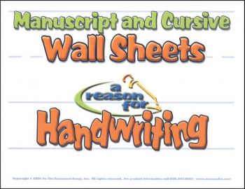Reason for Handwriting Manuscript /Cursive Wall Sheets