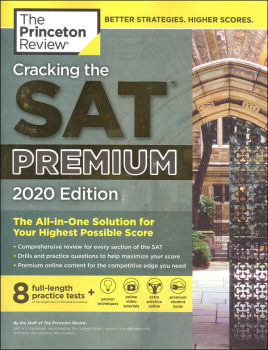 Cracking the SAT Premium Edition with 8 Practice Tests, 2020 Edition