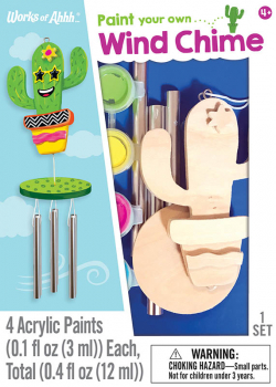 Paint Your Own Small Cactus Wind Chime Craft Kit