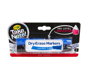 Crayola Take Note! Broad Line Dry Erase Markers (2 count)