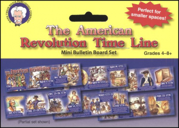 American Revolution Time Line Mini Bulletin Board Set