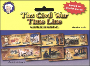 Civil War Time Line Mini Bulletin Board Set