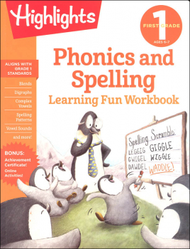 First Grade Phonics and Spelling Learning Fun Workbook