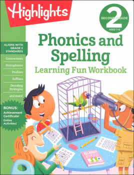 Second Grade Phonics and Spelling Learning Fun Workbook