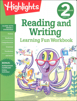 Second Grade Reading and Writing Learning Fun Workbook