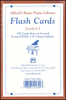 Alfred's Basic Course Flash Cards Levels 2 & 3