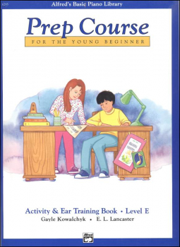 Alfred's Prep Course Level E Activity & Ear Training Book
