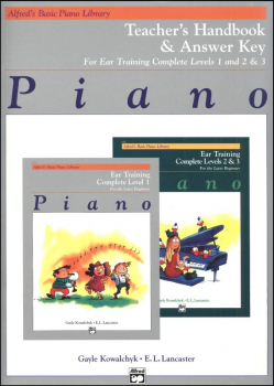 Alfred's Basic Piano Course Ear Training Teacher Handbook/Answer Key Levels 1-3