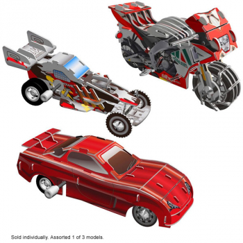 Smithsonian Motorized 3D Puzzle - Vehicles Assorted (1 of 3 possible models)