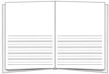 "Primary Lined Big Bare Book (8-3/8"" x 11"")"