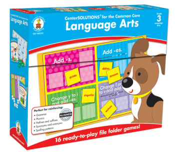 Language Arts File Folder Game Grade 3