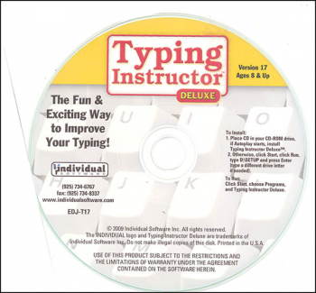 Typing Instructor Deluxe 17.3 CD-ROM (in a paper sleeve)