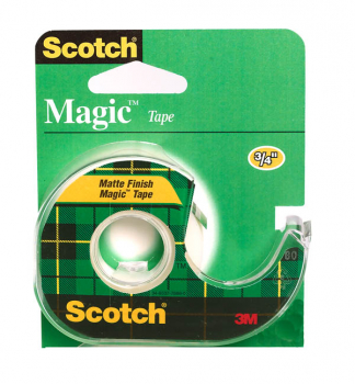 "Scotch Magic Matte Finish Tape Dispensered Rolls (3/4"" x 650"")"