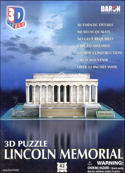 Lincoln Memorial 3-D Puzzle