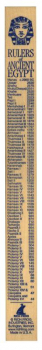 Ancient Egypt Rulers of the World Wooden Ruler