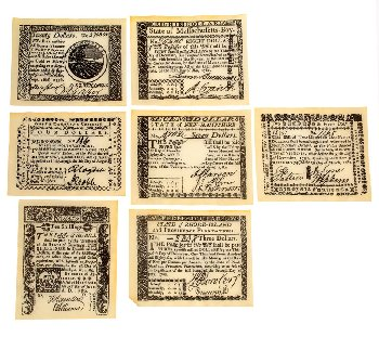 Colonial Banknote Set B Historical Document