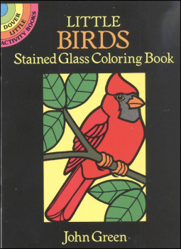 Birds Little Stained Glass Coloring Book