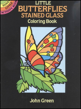 Butterflies Little Stained Glass Coloring Book